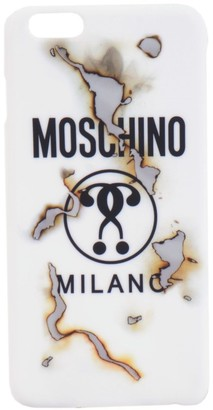 Moschino Logo Burnt Effect iPhone 6 Plus case