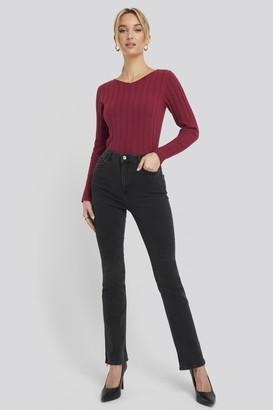 NA-KD Recycled Split Hem Skinny Jeans
