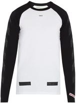 Off-White Raglan-sleeved cotton T-shirt