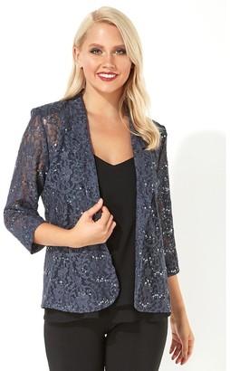 M&Co Roman Originals lace sequin embellished blazer