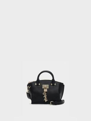 DKNY Elissa Mini Pebbled Leather Top Zip Satchel