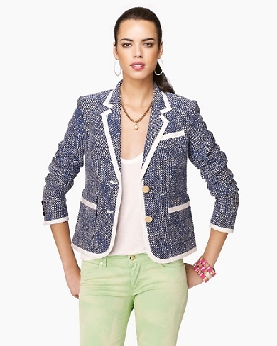 Juicy Couture Rope Yarn Jacquard Blazer