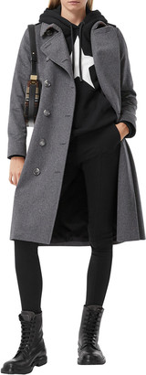 Burberry Solid Cashmere Double-Breasted Trench Coat