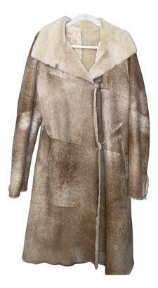 Ventcouvert Beige Shearling Coats