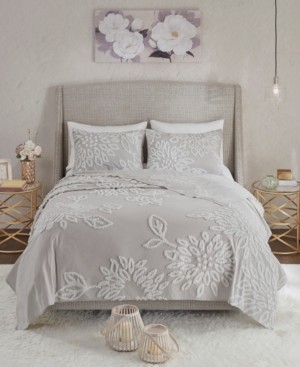 Madison Home USA Veronica King/California King 3-Pc. Tufted Cotton Chenille Floral Comforter Set