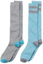 Cuddl Duds Girls 4-16 2-pk. Striped Lurex Knee-High Socks