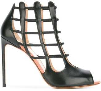 Francesco Russo Cell Bars Motif Sandals