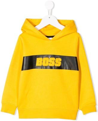 Boss Kids Logo Print Hoodie
