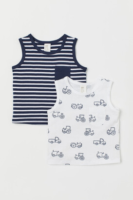H&M 2-Pack Cotton Vest Tops