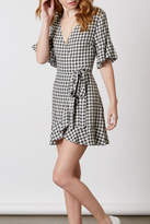 Cotton Candy Gingham Wrap Dress