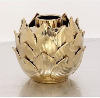Uma Gold Ceramic Vase