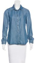 L'Agence Chambray Button-Up Top