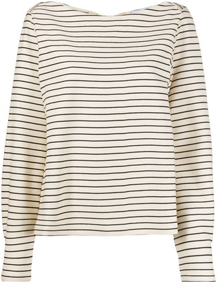 Erika Cavallini long sleeve striped print T-shirt