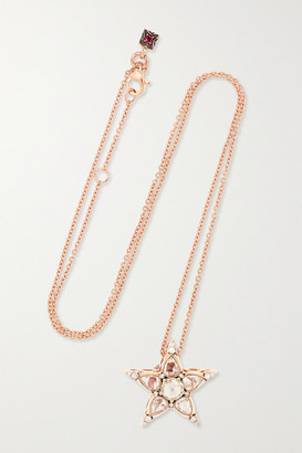 Selim Mouzannar Istanbul 18-karat Rose Gold Diamond Necklace