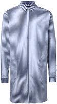Juun.J longline striped shirt