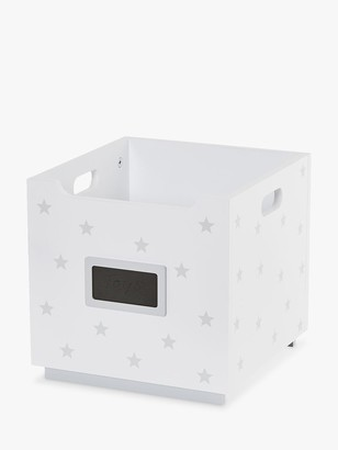 Great Little Trading Co Barbican Stackable Toy Storage Box, White Stardust