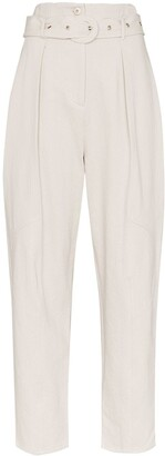Low Classic belted high-rise trousers