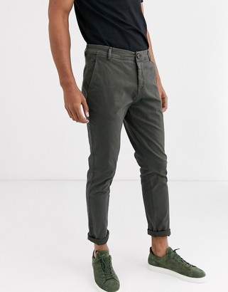 Selected skinny fit chino in grey