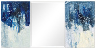 Empire Art Direct Abstract Rectangular Beveled Wall Mirror on Free Floating Printed Temp