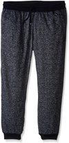 Southpole Men's Big-Tall Jogger Pants In French Terry Basic Marled