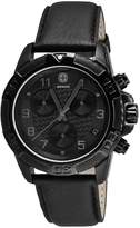 Wenger Men's 43mm Patent Leather Band Steel Case S. Sapphire Swiss Quartz Analog Watch 79265