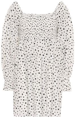 Rixo Bethany printed cotton minidress