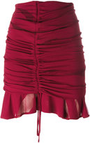IRO gathered drawstring mini skirt - women - Polyester/Viscose - 36