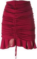 IRO gathered drawstring mini skirt - women - Polyester/Viscose - 40
