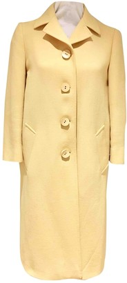 Prada Yellow Wool Coats