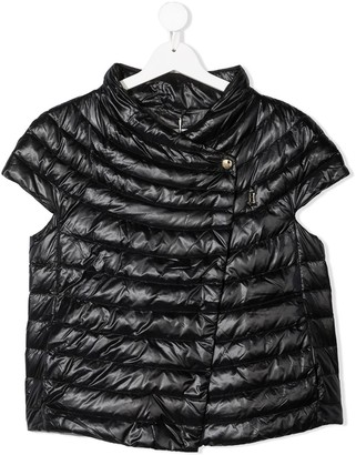 Herno TEEN quilted short-sleeve jacket