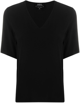 A.P.C. V-neck relaxed-fit T-shirt