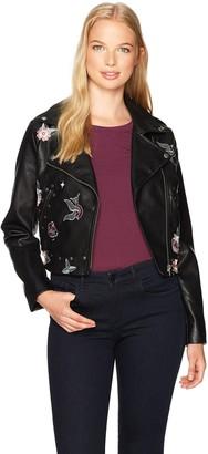 XOXO Women's Cropped Moto Jacket