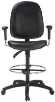 High-Back Ergonomic Genuine Leather Drafting Chair Harwick Furniture