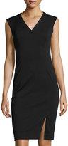 T Tahari Delphine Sleeveless V-Neck Sheath Dress, Black