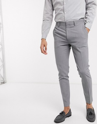 ASOS DESIGN super skinny suit trousers in four way stretch in mid grey