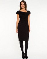 Le Château Knit Split Cowl Neck Dress