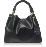 Karl Lagerfeld K/Slouchy Black Leather Shopper Bag