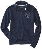 Aeropostale Womens East Coast Mock Quarter-Zip Popover Sweatshirt