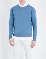 Boglioli Crewneck Cotton And Cashmere-blend Jumper