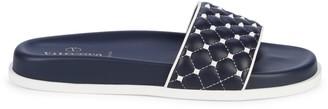 Valentino Garavani Rockstud Quilted Leather Slides