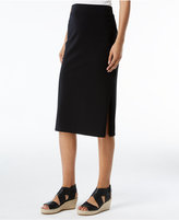 Eileen Fisher Organic Cotton-Blend Pull-On Pencil Skirt, Regular and Petite