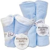 Trend Lab 20935 Blue Gingham- Bib Bouquet And Burp Bouquet- Set