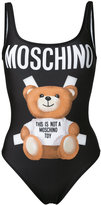 Moschino bear print swimsuit - women - Polyester/Spandex/Elastane - 38