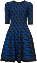 Oscar de la Renta geometric print dress