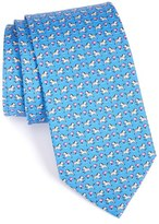 Salvatore Ferragamo Men's Zebra Print Woven Silk Tie