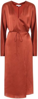 Vince Silk-satin wrap dress