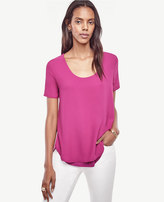 Ann Taylor Petite Mixed Media Tee