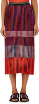 Proenza Schouler Women's Geometric Rib-Knit Midi-Skirt-ORANGE