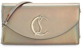 Christian Louboutin Loubi54 Iridescent Leather Clutch