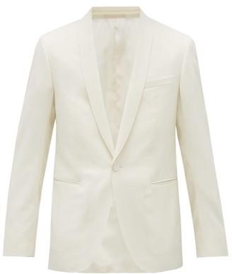 Lanvin Shawl-lapel Wool-serge Dinner Jacket - Mens - White